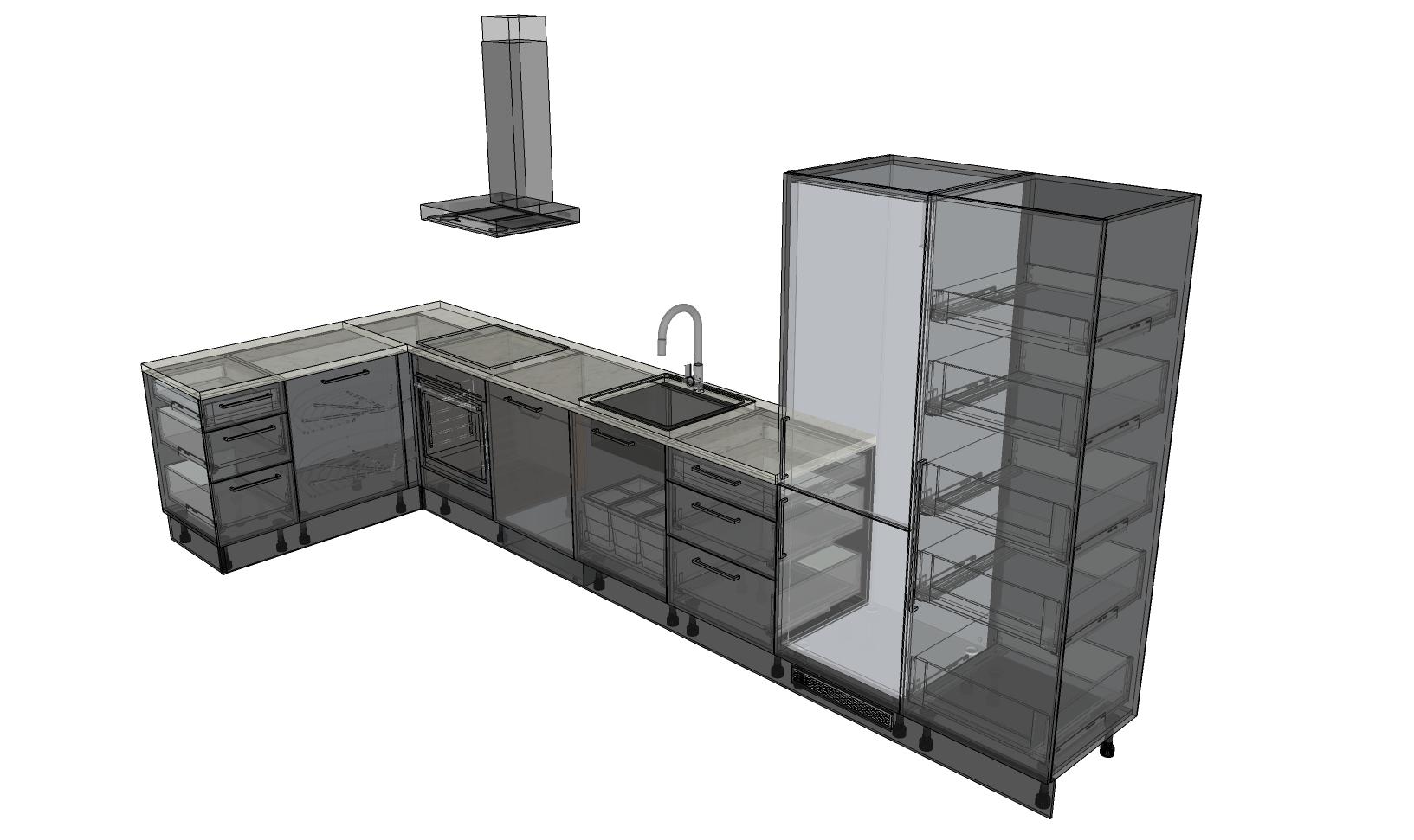 Gjennomlyst kjøkkenplanløsning
